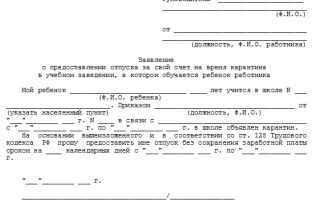 Заявление на административный отпуск и его подача