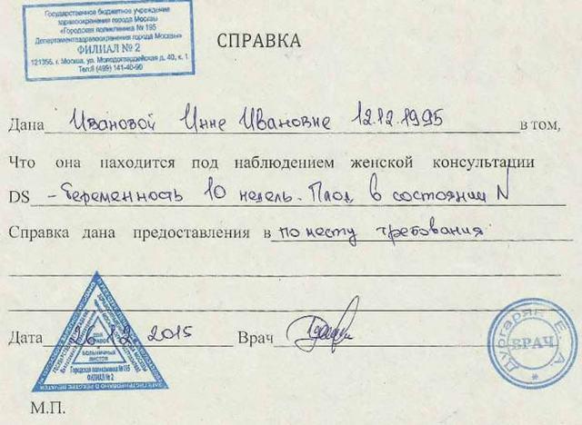 Трудовой договор на время декретного отпуска основного работника