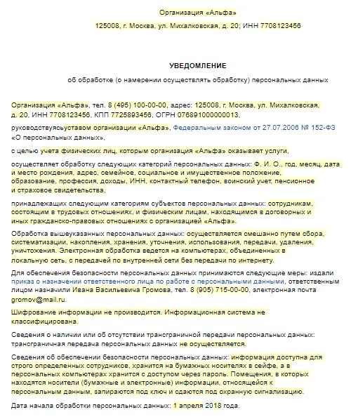 Что входит в понятие персональных данных в РФ?