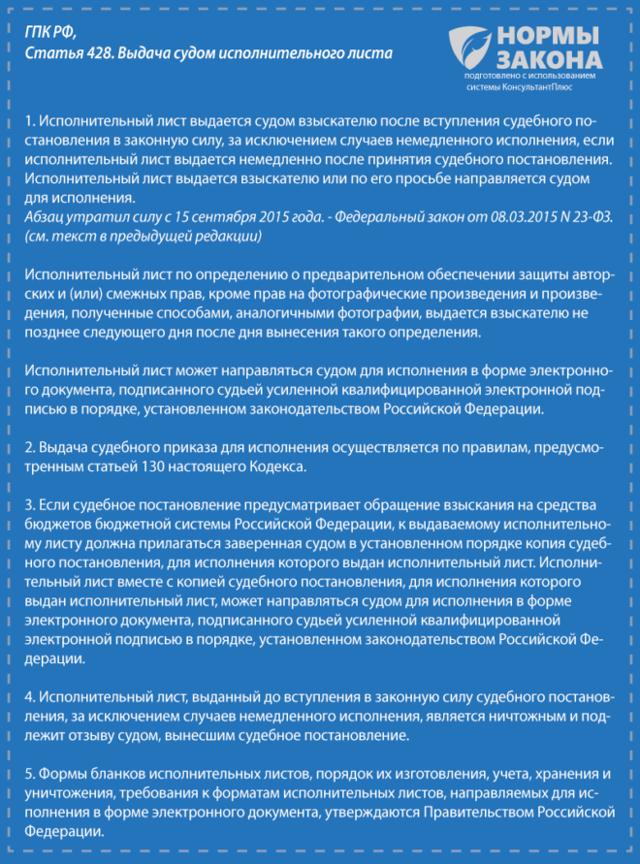 Образец заявления о выдаче исполнительного листа по гражданскому делу