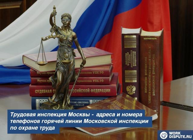 Трудовая инспекция - горячая линия по Московской области