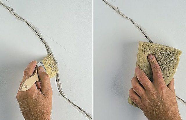 Трещина в стене в квартире - что делать и как заделать?